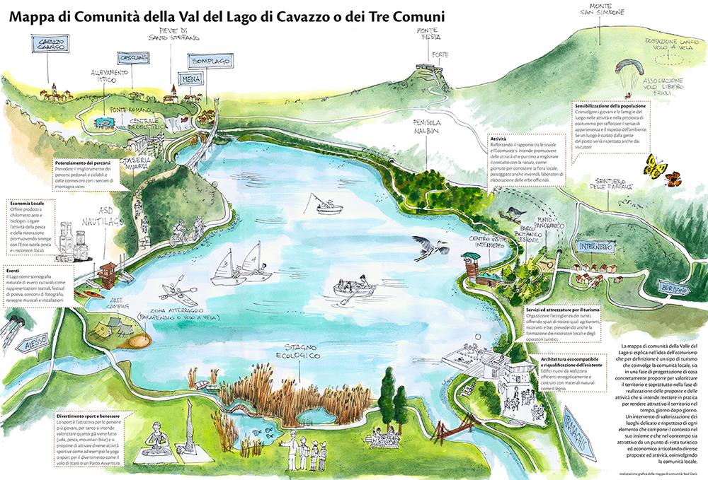 Saul daru 39 mappa di comunit della val del lago for Planimetrie della cabina del lago