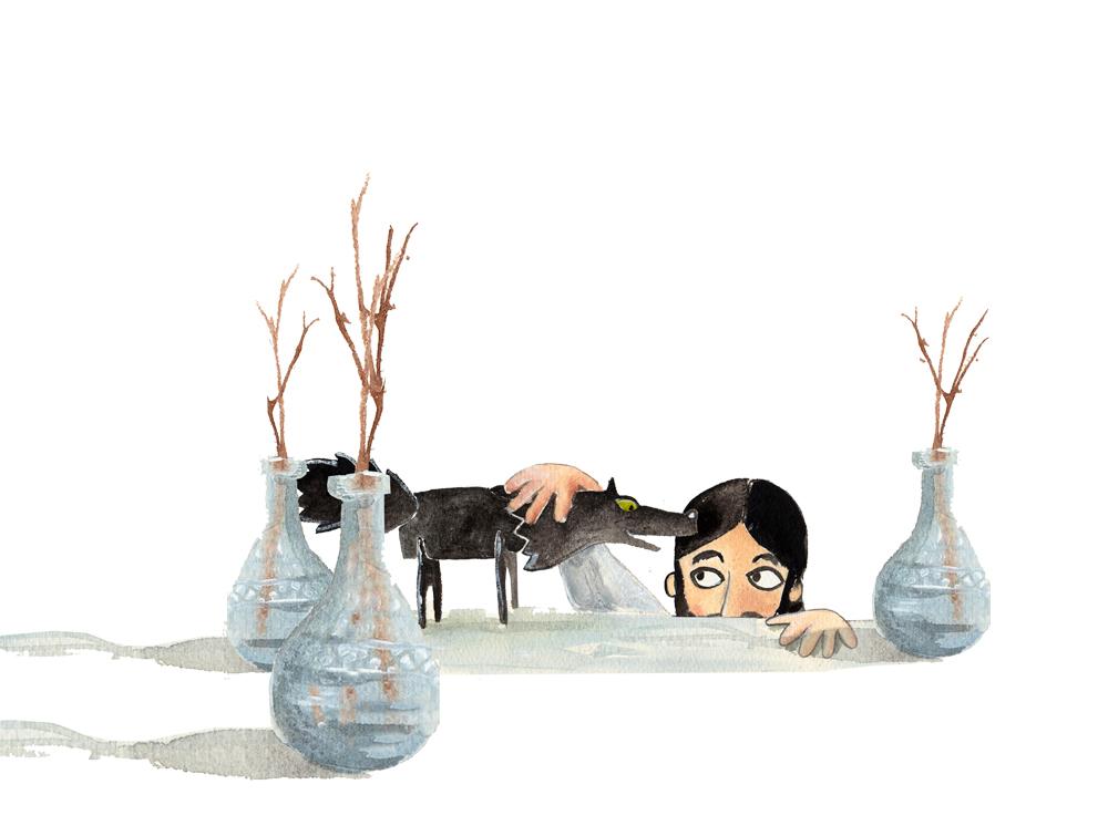 ©Saul Darù illustration_IL GIOCO DEL LUPO